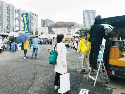 キャンピングカーイベント出展の様子(お台場)